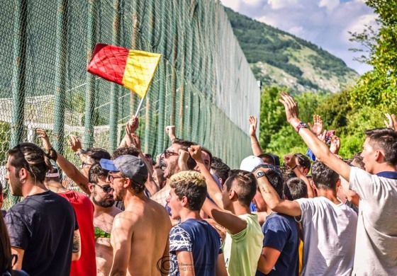 Castel di Sangro, tifosi in visibilio per festeggiare i play off