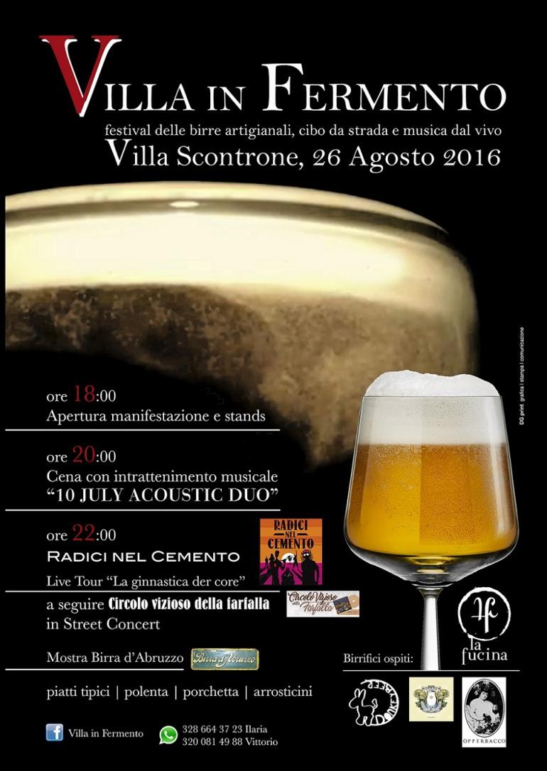 """Villa Scontrone, weekend con la 1^ edizione di """"Villa in Fermento"""""""