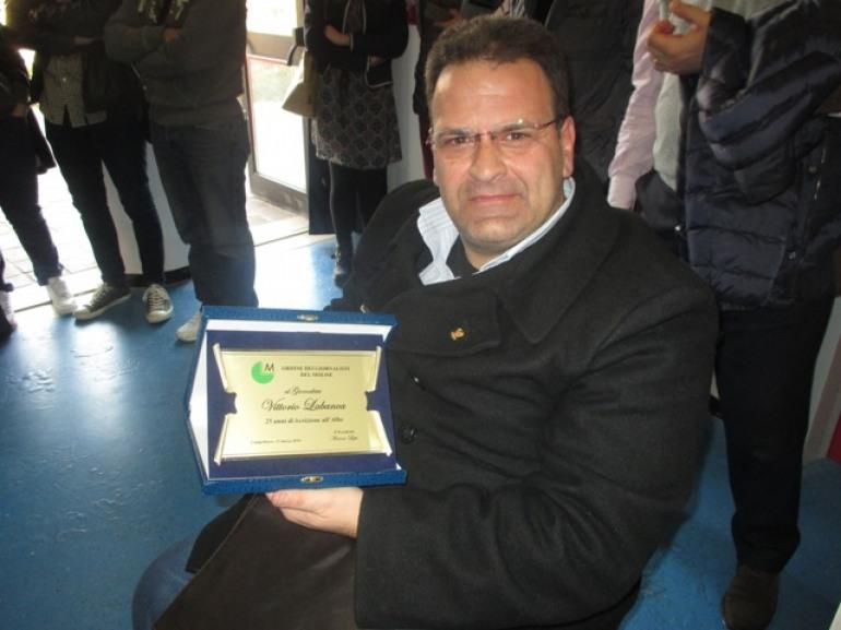 Nozze d'argento per il giornalista agnonese Vittorio Labanca