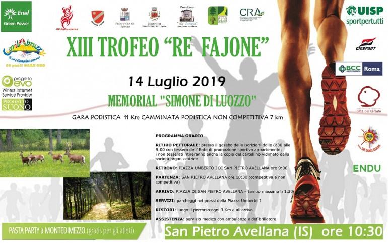 """San Pietro Avellana, XIII° gara podistica """"Re Fajone – Memorial Simone Di Luozzo"""""""