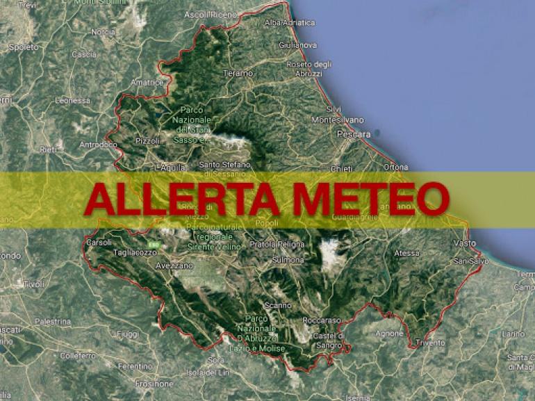 Allerta rossa Abruzzo, precipitazioni intense e criticità previste sull'Italia