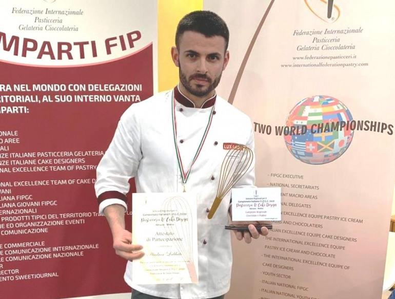 Agnone, Andrea Labbate pasticciere over top: campione regionale assoluto di cioccolateria e pralineria