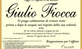 Giulio Fiocca si è spento serenamente questa mattina a Castel di Sangro