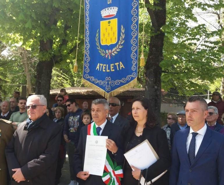 L'Aquila, medaglia di bronzo al merito civile per il Comune di Ateleta