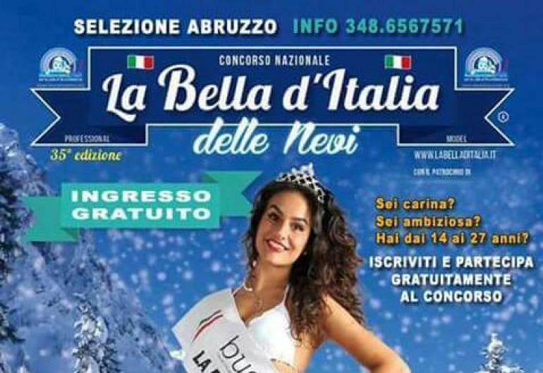 """Castel di Sangro sede del concorso """"bella d'Italia delle nevi"""""""