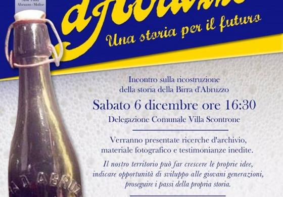 Antico birrificio d'Abruzzo, il 6 dicembre convegno a Villa Scontrone