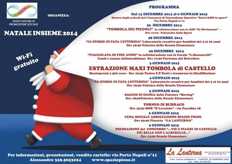 Alla grande 'Spazio Pieno' anima le vacanze natalizie di Castel di Sangro