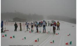 Campionato Regionale sci di fondo XCX  TL a Capracotta, la bufera non ferma gli atleti