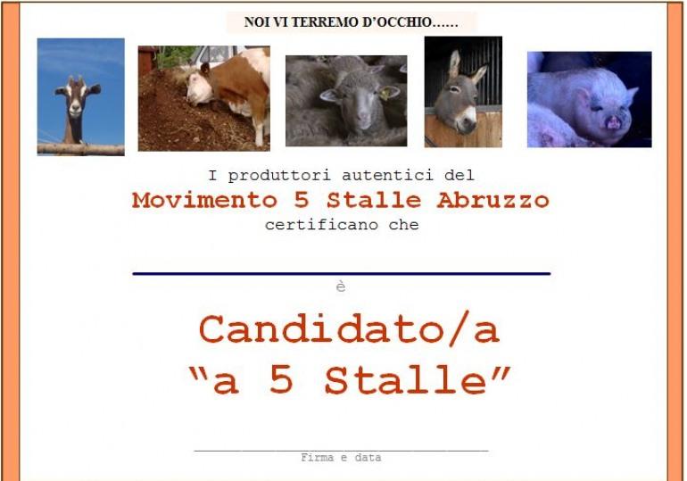 """Politico """"5 stalle"""" autentico? Allora, firma l'adesione!"""