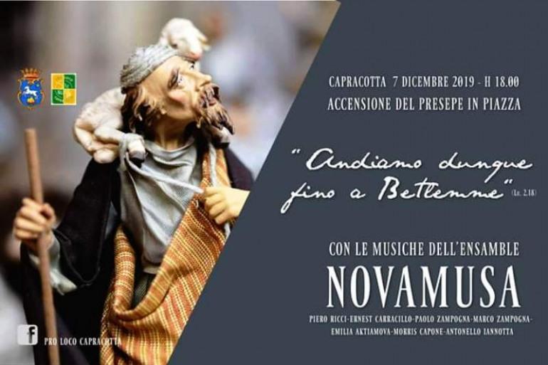 Capracotta, con le musiche dei Novamusa si accende il presepe in piazza: 7 dicembre