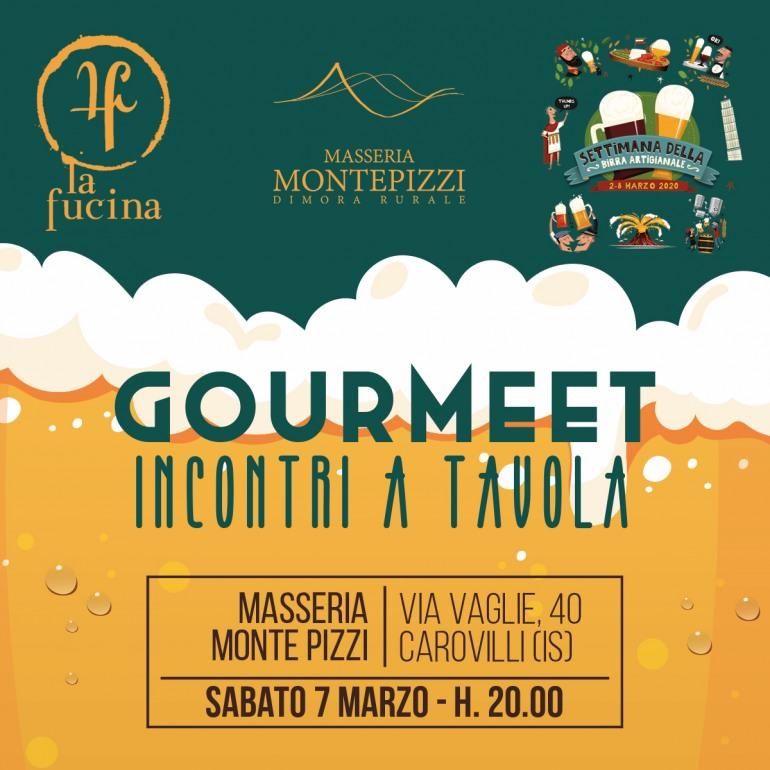 """Carovilli, settimana della birra artigianale alla Masseria Monte Pizzi: """"GourMeet – incontri a tavola"""""""