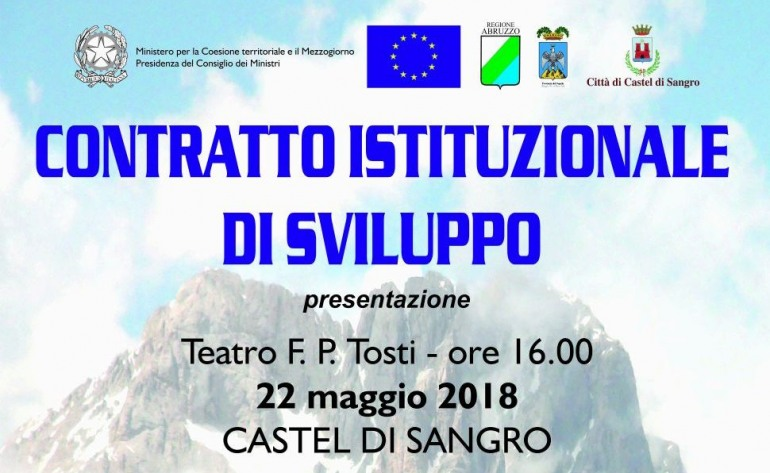 Il ministro De Vincenti a Castel di Sangro per illustrare il contratto istituzionale di sviluppo