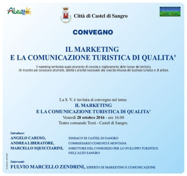 Castel di Sangro, convegno con esperti di marketing e comunicazione