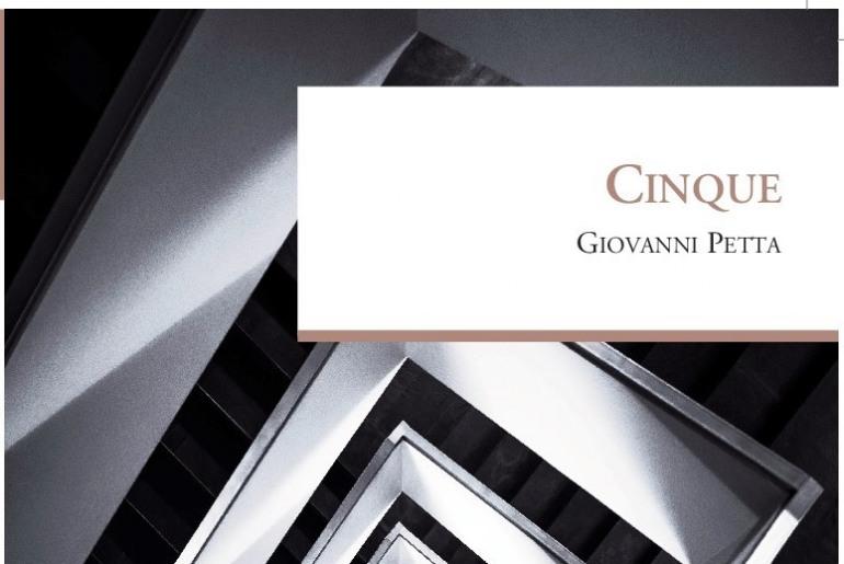 """""""Cinque"""", il romanzo di Giovanni Petta sarà presentato a Venafro: martedì 6 marzo"""