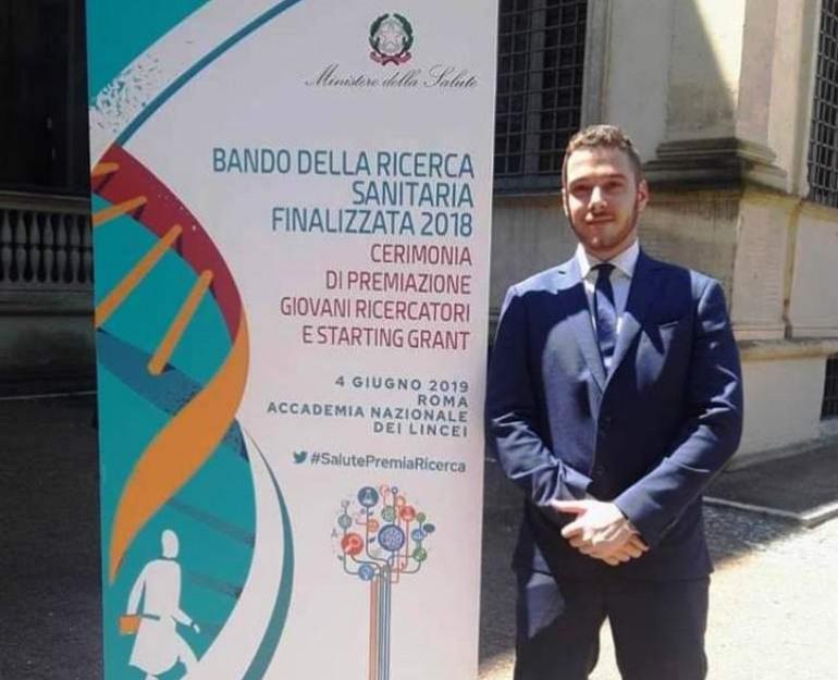 L'agnonese Cristiano Carlomagno vince il bando 'Ricerca Finalizzata' del ministero della salute