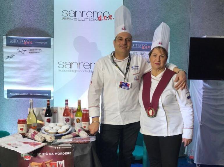 Festival di Sanremo, cena dei Vip con i pomodori dell'azienda Flagella di Castel di Sangro