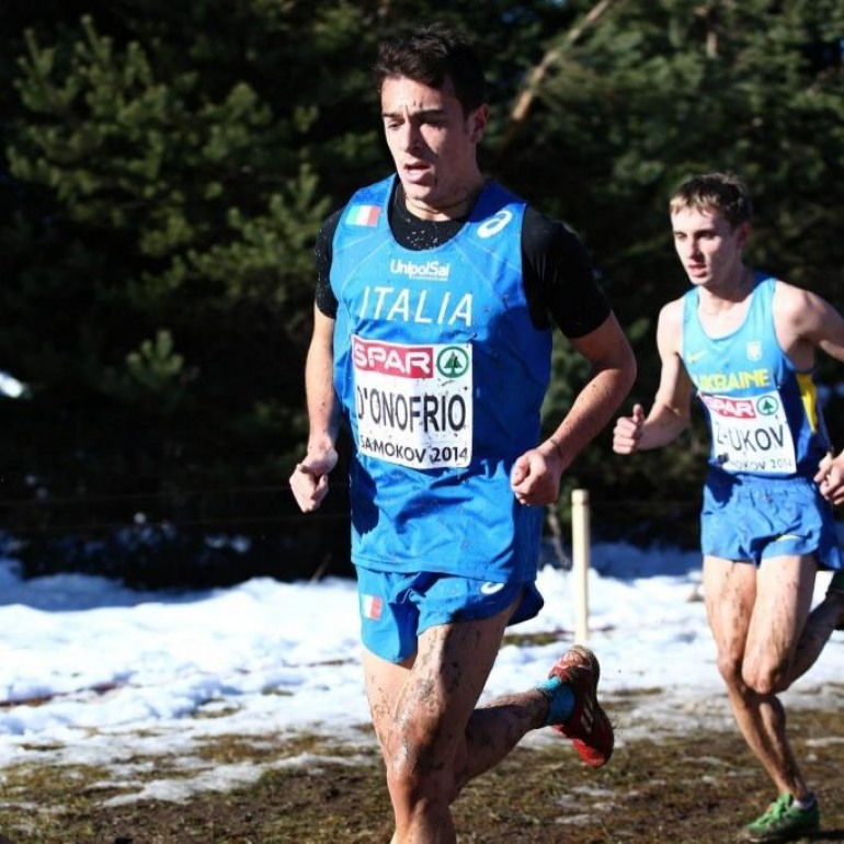 Milano, lo scontronese Daniele D'Onofrio in gara con il campione Gebrselassie