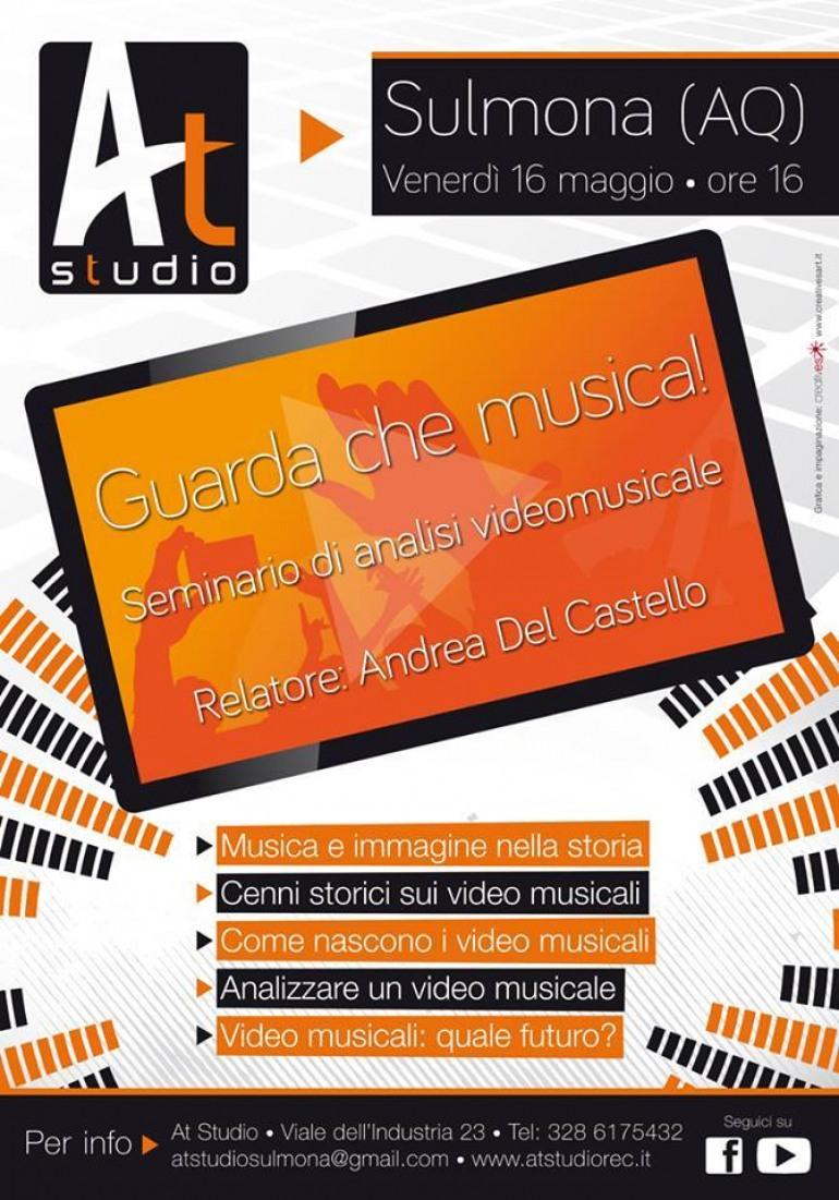 """Sulmona – """"Guarda che musica"""", il 16 maggio a scuola con Andrea Del Castello"""