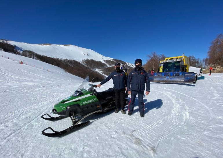 Distacco valanga Monte Pratello, esercitazione dalla Protezione Civile della Regione Abruzzo