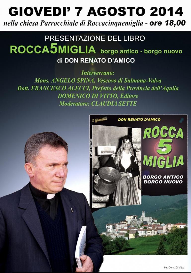 """Don Renato ritorna nelle librerie con """"Rocca 5 Miglia – Borgo antico, Borgo nuovo"""""""