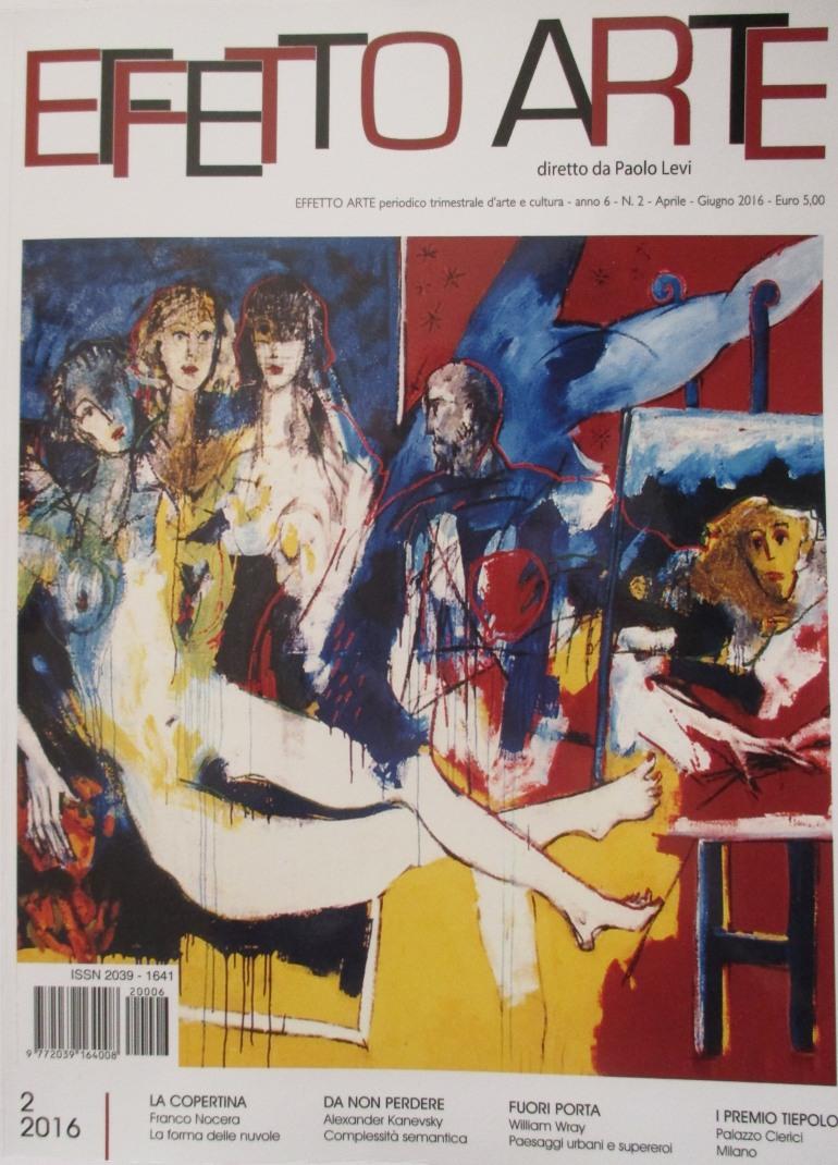 """Alfedena, Giuliana Amorosi finisce sulla rivista Effetto Arte con """"Upside down"""""""