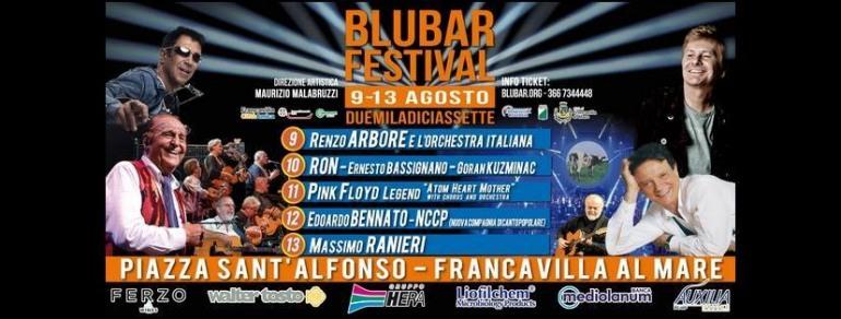 Francavilla al mare, Blubar Festival cambia location: 9 – 13 agosto piazza sant'Alfonso