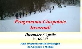 Ecco il calendario delle ciaspolate invernali di Altosangro Escursioni