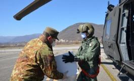 Coronavirus Molise, a Campochiaro l'esercito consegna mascherine e indumenti