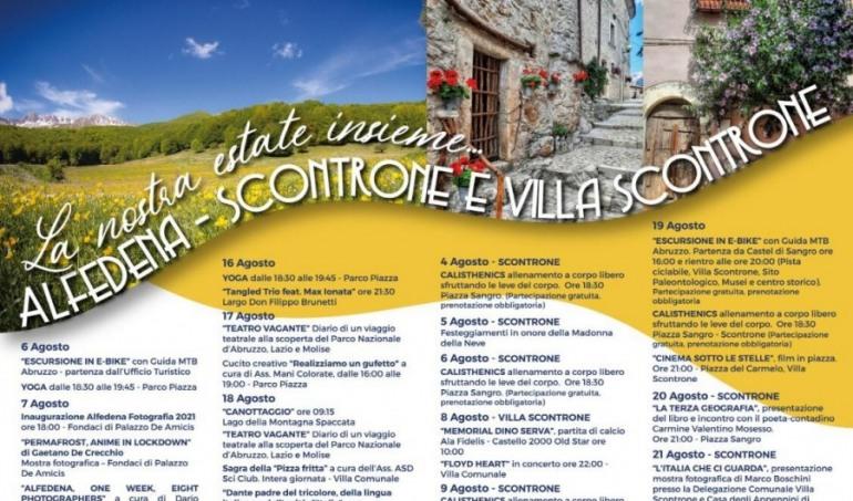 Cosa fare ad Alfedena, Scontrone e Villa Scontrone, ecco il calendario eventi estate 2021