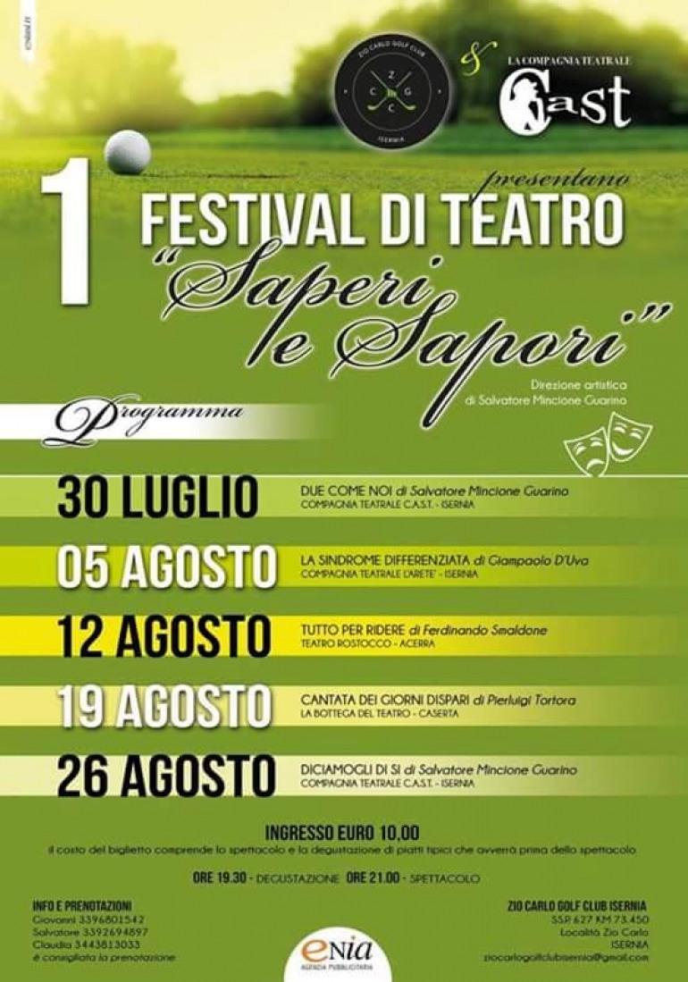 """Isernia, apre il sipario il Festival di teatro """"Saperi e Sapori"""""""