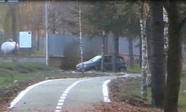 Castel di Sangro, automobilista a spasso per la ciclopedonale ( video)