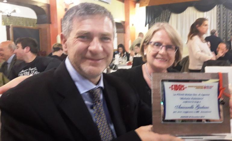 FIDAS premia Gaetano Amicarelli: 60 donazioni di sangue