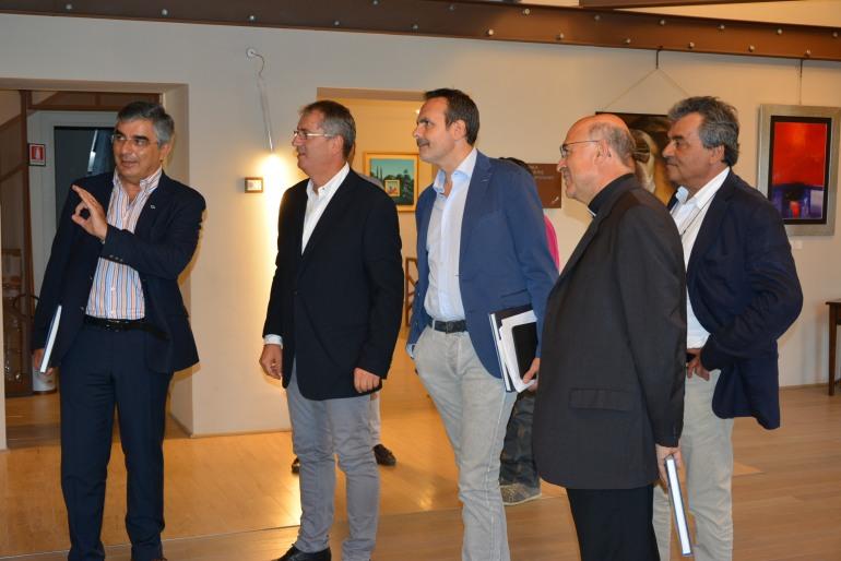 Rivisondoli, all'inaugurazione della Pinacoteca i governatori D'Alfonso e Di Laura Frattura
