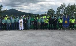 La Panchina dell'Abbraccio realizzata dal Gruppo Alpini Protezione Civile di Ateleta