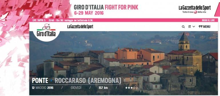 Giro d'Italia in Alto Sangro, chiusura SS. 17 e anticipo termine delle lezioni