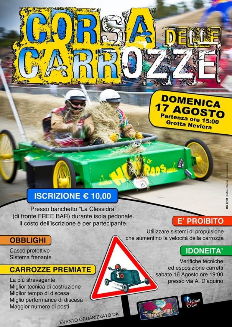 """Castel di Sangro, tutto pronto per la """"Corsa delle carrozze"""""""