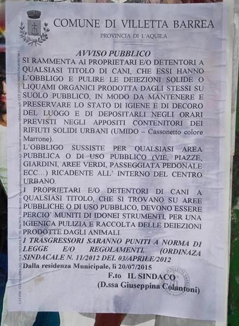 A Villetta Barrea vietata la pipì, Roccaraso dog -friendly