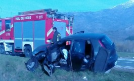 SR 83, incidente al bivio di Villa Scontrone