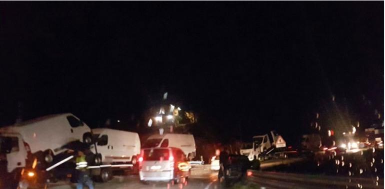 SS. 158 – Automobile contro bisarca, spaventoso incidente a Colli a Volturno