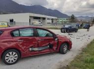 Incidente a Castel di Sangro dietro la zona industriale, feriti i conducenti