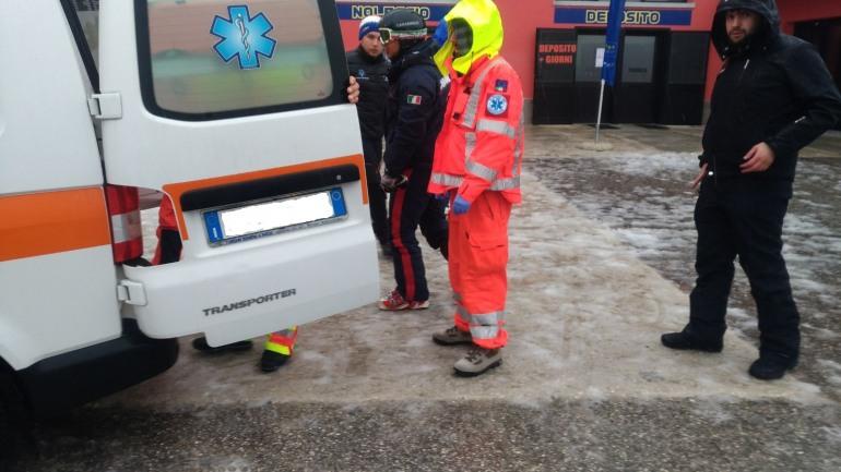 Rivisondoli, sciatore finisce nella scarpata: ricoverato in rianimazione a Sulmona