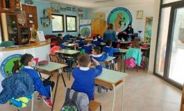 Scuola primaria Castel di Sangro, i bambini studiano in riva al laghetto della Pescasportivi Sangro