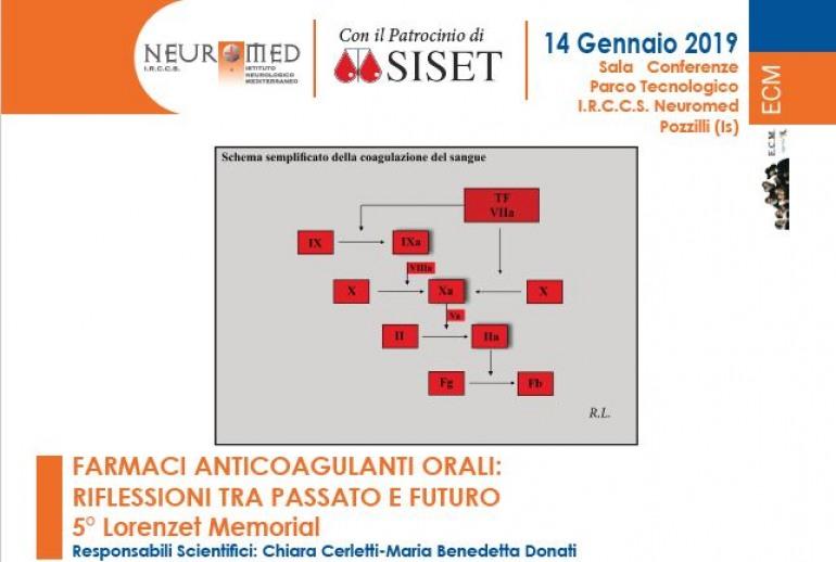 Quinta edizione del Memorial Roberto Lorenzet: si parla del futuro dei farmaci anticoagulanti