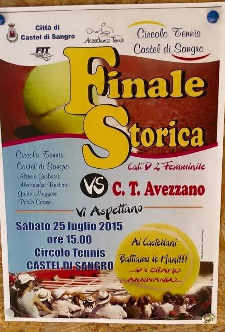 Tennis femminile, promosse in serie D1 le atlete del circolo tennis Castel di Sangro