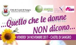 Giornata internazionale contro la violenza sulle donne, a Castel di Sangro due grandi eventi