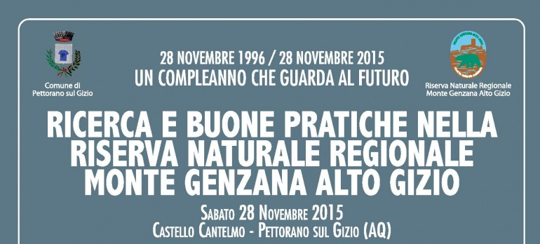 Riserva monte Genzana-Alto Gizio, 19 anni di ricerca e buone pratiche