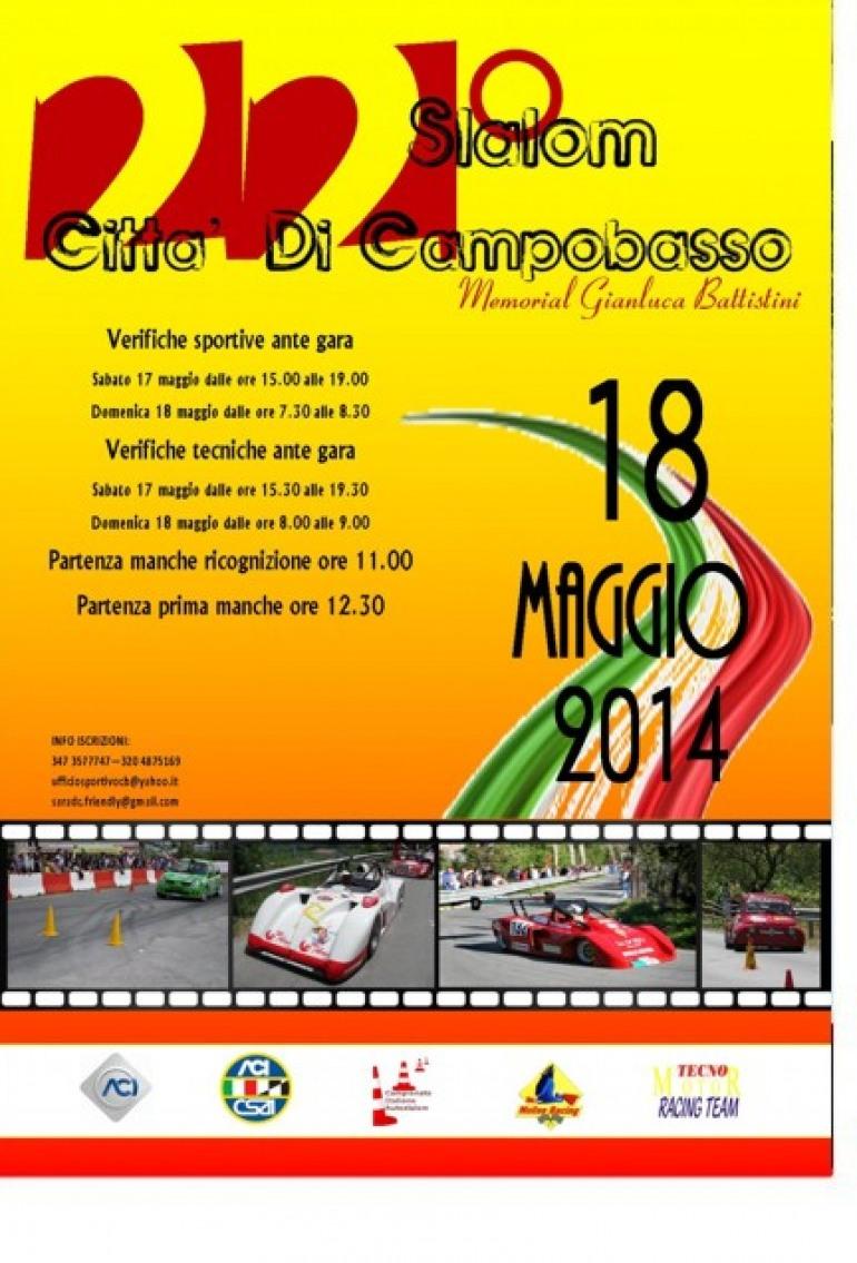 """Rally – Domenica, """"Slalom città di Campobasso"""""""