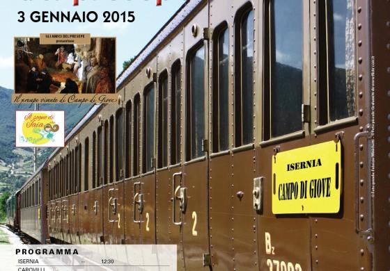 Campo di Giove, il 2015 si apre col treno del presepe