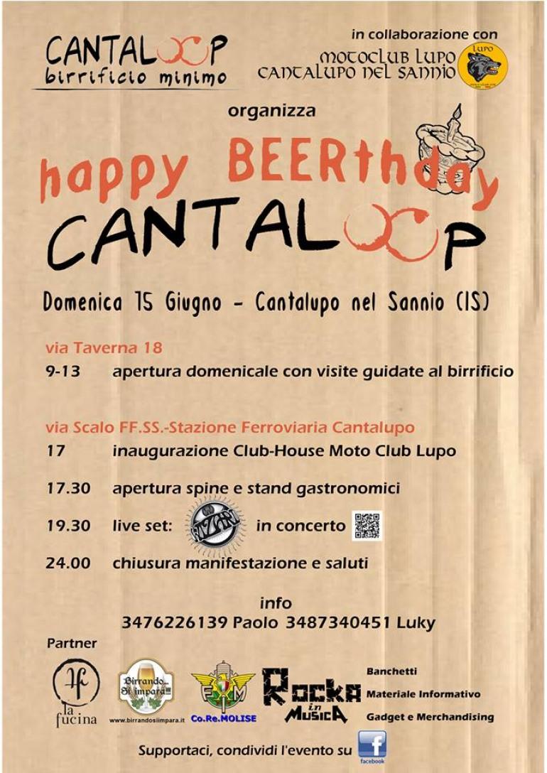 """""""Cantaloop"""" il birrificio del Matese festeggia il primo anno di vita. Happy beerthday e grande festa!"""