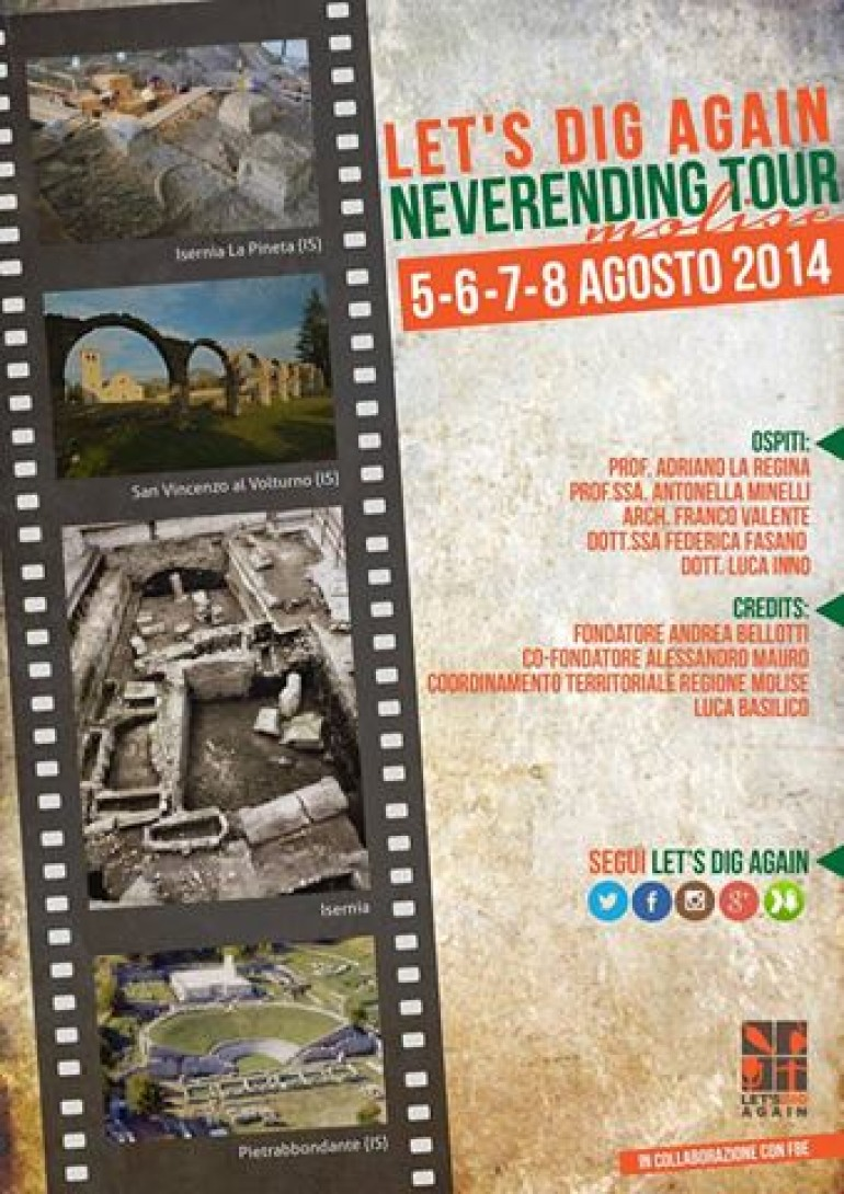 """Let's dig Again, sbarca in Molise. L'archeologia in radio con """"Neverending Tour"""""""
